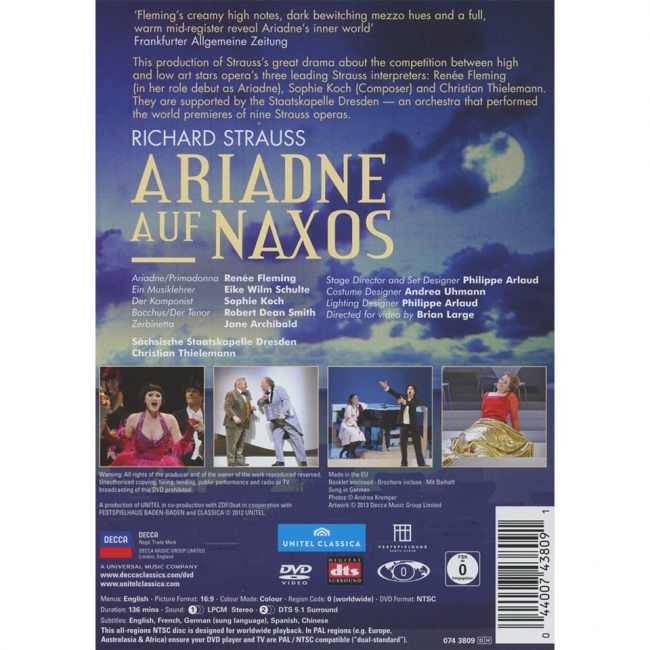 Richard Strauss Ariadne auf Naxos Susan Anthony Iride Martinez Sophie Koch Jon Villars Colin Davis Dresden Opera Details