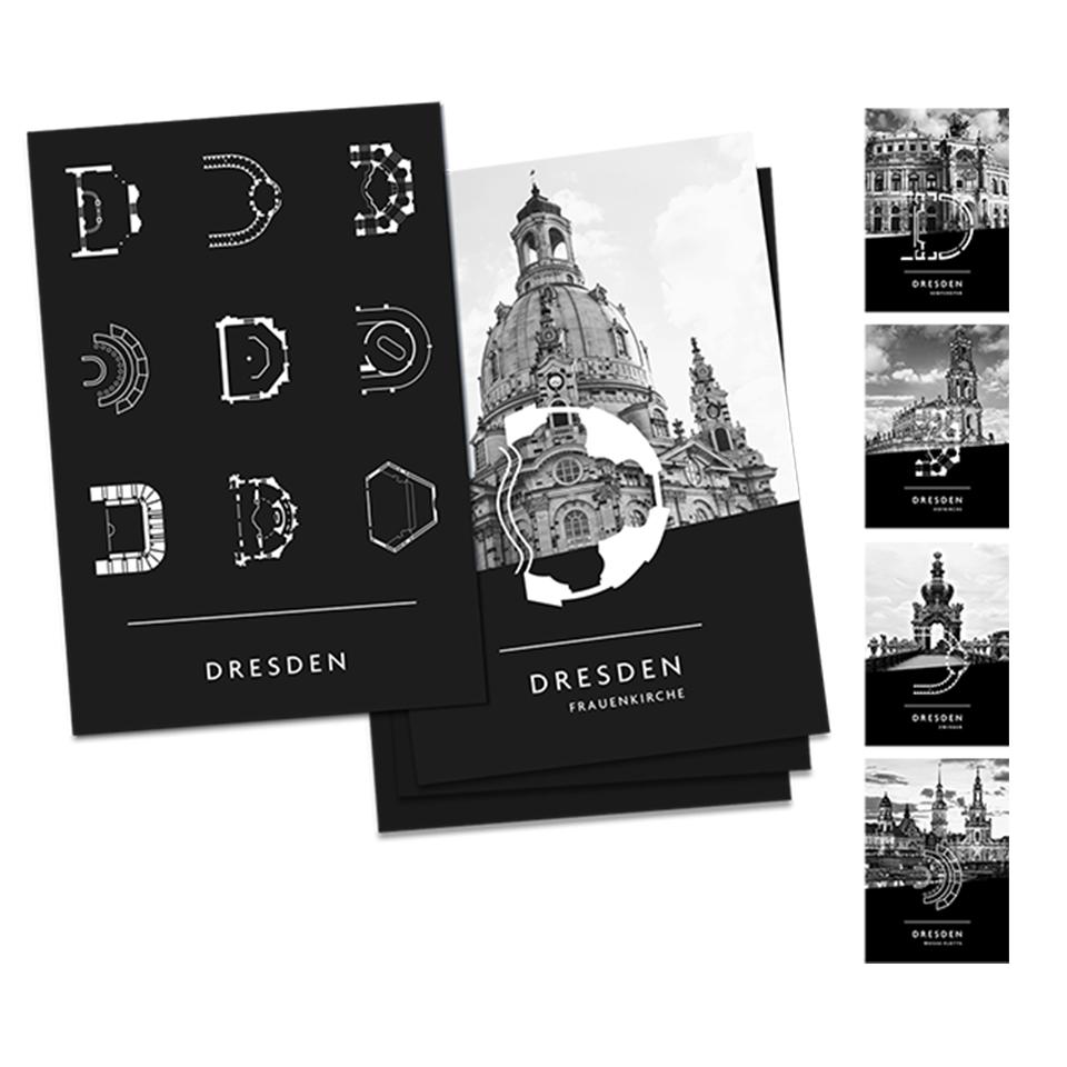 Postkartenset 6er - Dresden eDition